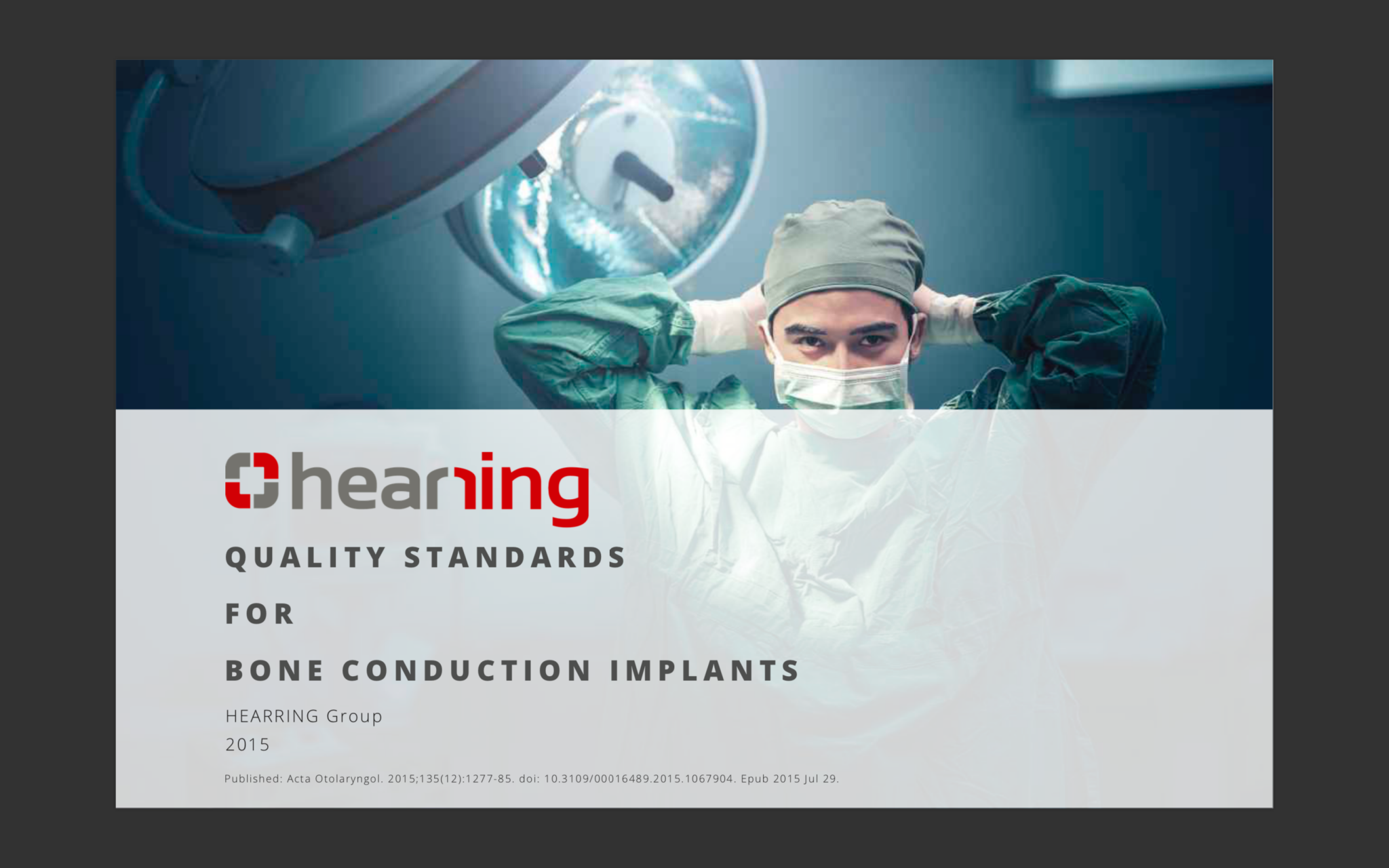 Bone Conduction Implants Quality Standards Hearring