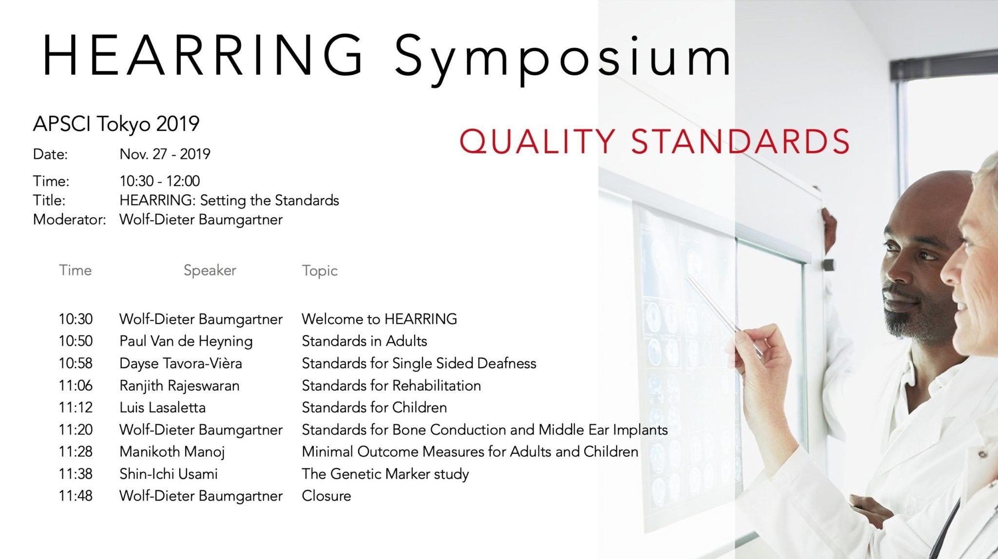 HEARRING Symposium Quality Standards