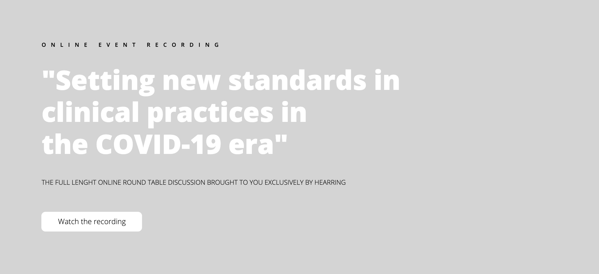 new standards clinical practices covid19 HEARRING