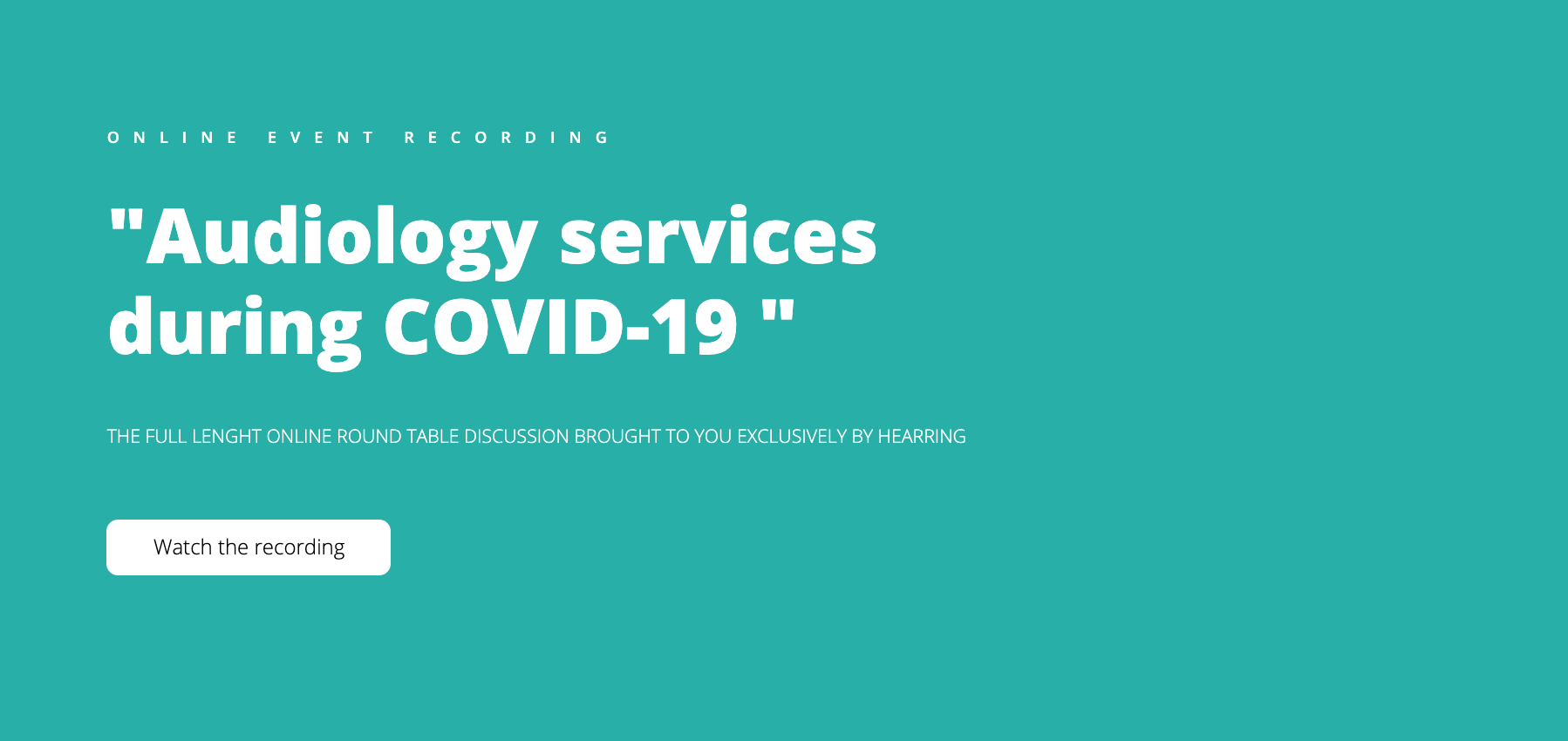 audiology services during covid19 HEARRING