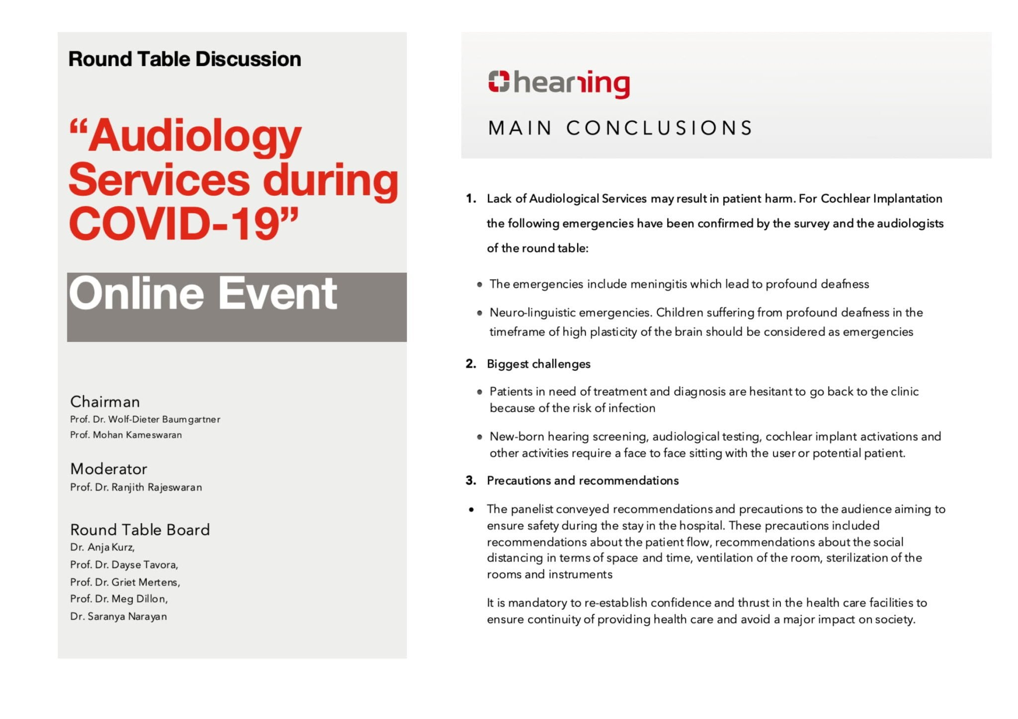 audiology services covid19 online discussion Hearring