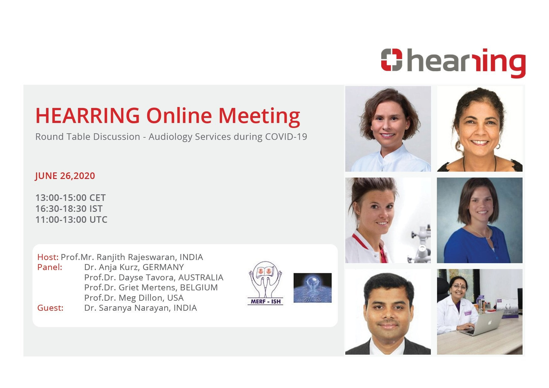 online meeting audiology services covid Hearring