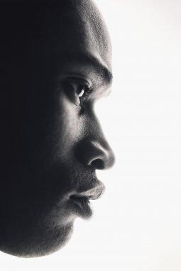Man's face close-up